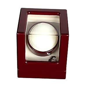 LWBAN-Packing Uhrenbeweger Watch Winder Automatic Single 1 4 Timer Modi Premium-Silent-Motor, 1+0, red