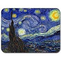 """Keilumo - Alfombrilla de ratón con diseño del cuadro """"Noche Estrellada"""" de Vincent Van Gogh Alfombrilla de ratón artística y de alta calidad."""