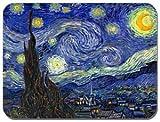 """Tappetino per mouse con """"Notte stellata"""" di Vincent Van Gogh, Tappetino per mouse di alta qualità artistica"""