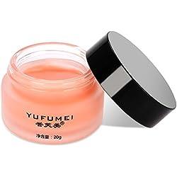 Máscara de labios Extracto de cereza natural Tratamiento de labios para dormir Hidratante Exfoliante Nutritivo Antienvejecimiento para labios regordetes y suaves