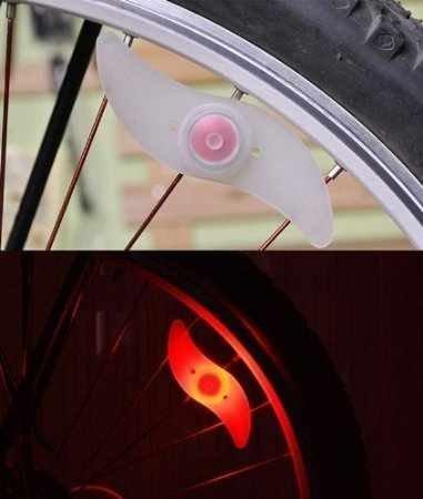DEET® Red mountain bike/Cycle LED Spoke Lights [Twin Pack]