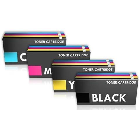 Prestige Cartridge Q6000A-Q6003A - Pack de 4 cartuchos de tóner láser para HP Colour Laserjet 1600/2600/2605, tricolor y
