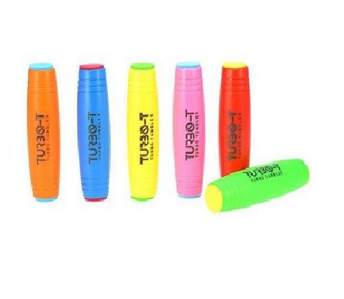 Preisvergleich Produktbild LED Fidget Stick Turbo Tumbler Finger Hand Desktop Stick Spielzeug Stress Flipstick Toys für Angst Autismus ADD ADHD Kinder / Erwachsene Farbe BLAU
