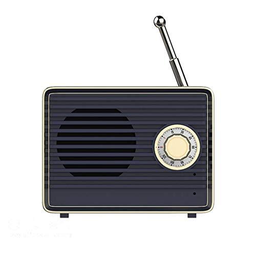 Techting Retro Bluetooth Lautsprecher Vintage-Subwoofer Mini Wireless Desktop beweglicher Bass Leichte Lautsprecher (Desktop-subwoofer)
