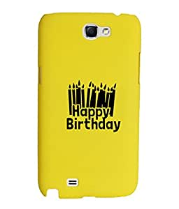KolorEdge Back Cover For Samsung Galaxy Note II N7100 - Yellow (1872-Ke15095SamNote2Yellow3D)