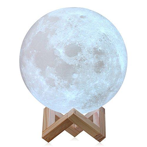 Licht der Mond 3D Kreative Clair de Lune Geschenk Valentinstag Berühren Sie die Änderung der Farbe der Offenen Licht Vorbauten magnetisch (15cm)