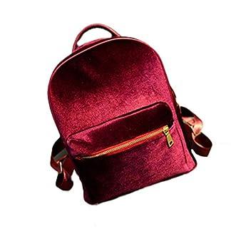 41OupqwTvdL. SS324  - Malloom Bolso de hombro de mujer oro terciopelo pequeña mochila mochila escuela libro