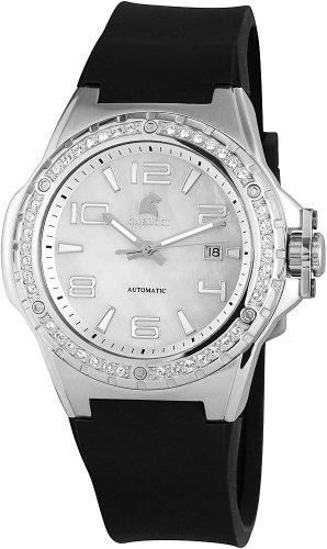 Carucci Watches CA2213SL - Orologio da polso da donna, cinturino in caucciù colore nero