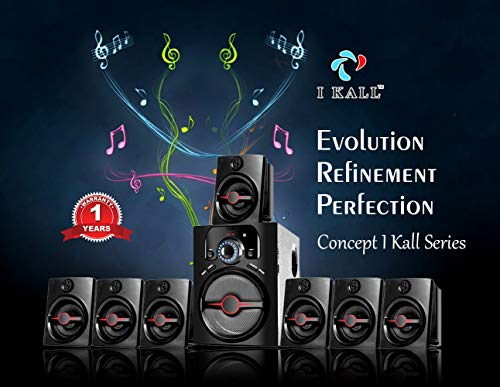 I KALL 7.1 Channel IK-4444 Bluetooth Home Theater System (Black)