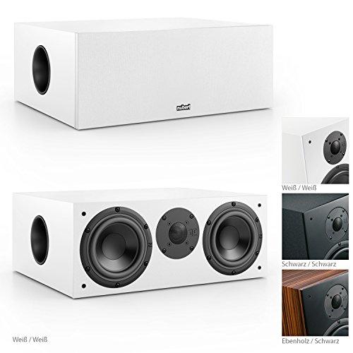 Nubert nuBox CS-413 Soundbar-/Centerspeaker 2-Wege (2x 15,0 cm Tieftöner, 2,5 cm Hochtöner, 220/300 Watt, 55-22000 Hz), Stück, Weiß / Weiß