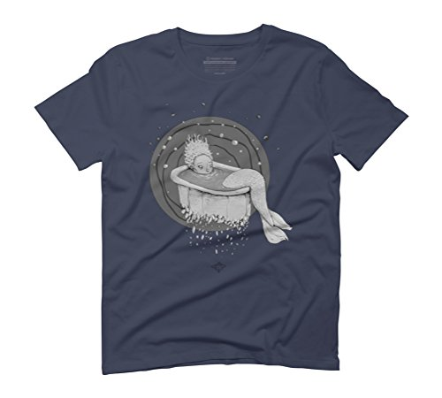 I believe in mermaids Men's Graphic T-Shirt - Design By Humans Navy