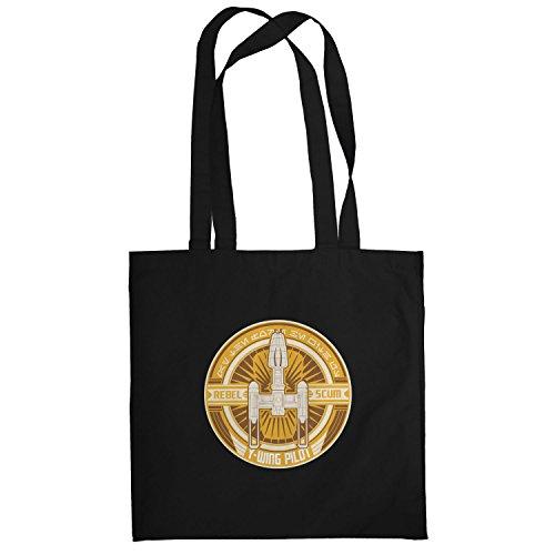 Texlab–Y di Wing pilota Logo–sacchetto di stoffa Nero