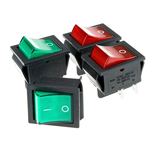 NUOLUX interruttore a levetta 4pcs rosso/verde on/off interruttore 16A 250V