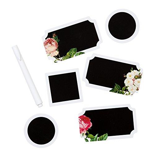 Talking Tables Blossom; Tafel-Papieraufkleber mit Blumenmotiv für Hochzeiten oder Partys, Bunt (18 pro Pack) (Topper Table White)