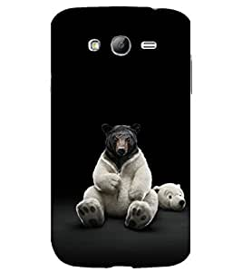 printtech Nature Animal Bear Funny Back Case Cover for Samsung Galaxy Grand i9080 / Samsung Galaxy Grand i9082