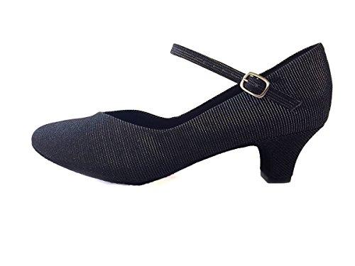 So Danca BL 116 Scarpe da ballo da Donna Latino Salsa Rumba Tango tacco 3,8 cm colore nero Nero