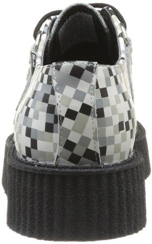 TUK Mondo Lo Creepers, Chaussures basses homme Noir (Black/White/Grey Digi Print)