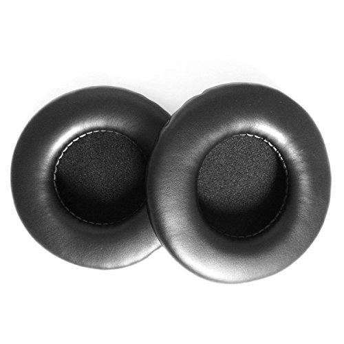 Un paio di ricambio soffice PU espanso imbottiture orecchio tamponi auricolari per SONY MDR-V700DJ Z700 V500DJ cuffie (nero)