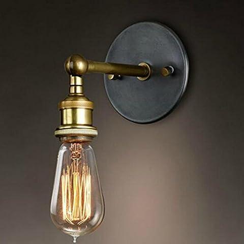 OSHIDE minimalista retro Loft Vintage Rustic Metal Industrial aplique de la luz de la lámpara de