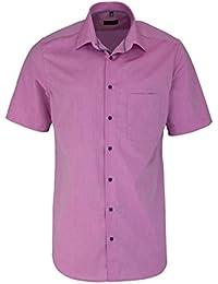 eterna Kurzarm Hemd Modern Fit Chambray Unifarben