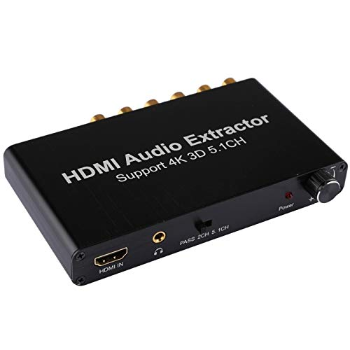 SureShop HDMI 5.1 Channel Audio Extractor Converter AC-3/DTS Decoder RTOS DTS 4K RCA Ac3 Converter
