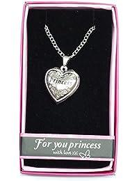 """Princess Nombre personalizado con texto """"Love Lockets/colgantes con soporte de la imagen Presenta Beautifully by Sterling effectz"""