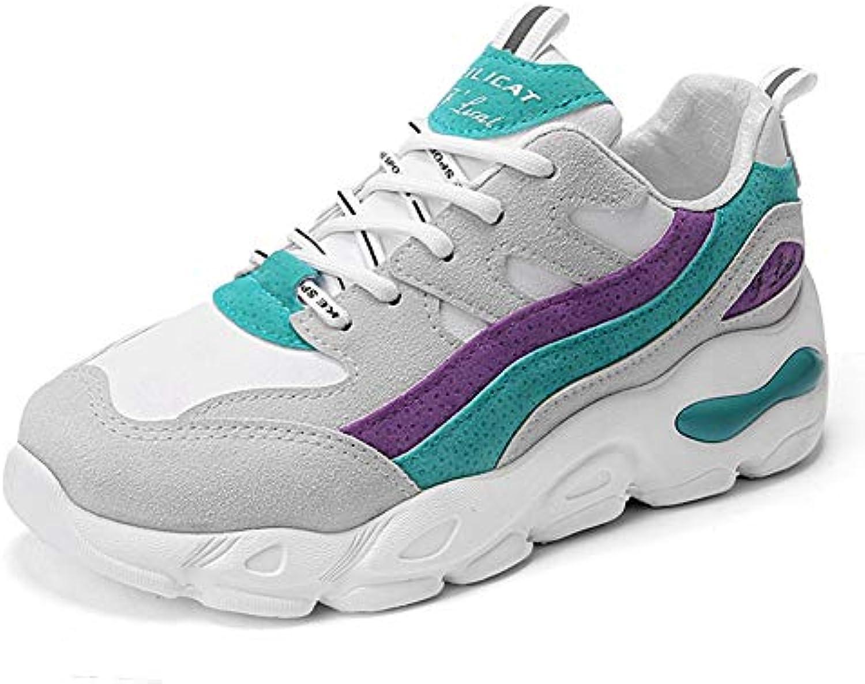 He-yanjing Baskets pour New Femmes, Automne New pour Chaussures de Sport en Daim Chaussures de marée Respirante Chaussures... e46fb0