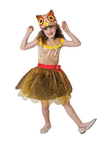 Kinder Eule Kostüm - Bristol Novelty CF118 Eulenkostüm für Mädchen, Braun