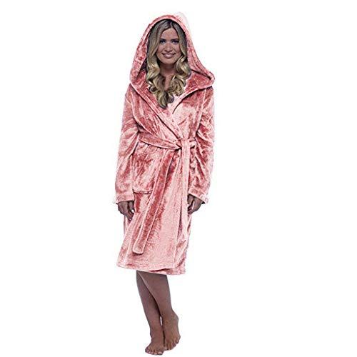 Familie Eltern-Kind Bademantel Frau Herren Jungs Mädchen Winter Warm Plüsch Pure Farbe Verlängert Hauptkleidung Langärmelig Robe Schlafanzug Mantel