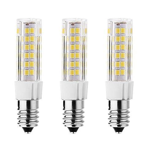 rayhoo 3Ampoule LED Base E147W lampe LED, 75–2835-smd Chipsets LED, 60W équivalent à une ampoule à incandescence, non compatible avec variateur d'intensité Blanc chaud 2800–3200K, 500Lm,