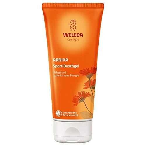 WELEDA Arnika Sport-Duschgel, belebende und aktivierende Naturkosmetik Pflegedusche für neue Energie und Entspannung der Haut, erfrischende Reinigung und Pflege für Körper und Gesicht (1 x 200 ml) -