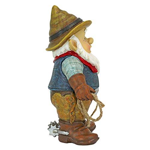 Design Toscano Country Cowboy Klaus Gartenzwerg-Statue-Rasenzwerg, Vollfarbe wirklichkeitsgetreu