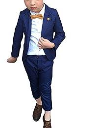 DianShao Niños Elegante 2 Piezas Conjuntos Para Bodas Traje Chaqueta Y Pantalones