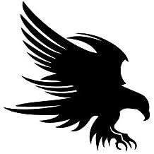 Aquila sticker decal tuning adesivo prespaziato senza fondo in vinile colore nero lucido, 15 centimetri. Personalizza auto, moto, caschi, camion, furgoni, fuoristrada e 4x4, car wrapping e tuning, barche, valige, vetri, mobili e qualsiasi altra superficie liscia.