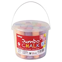 Apli kids Chalk Box Round, Multicolor, Jumbo (14855)