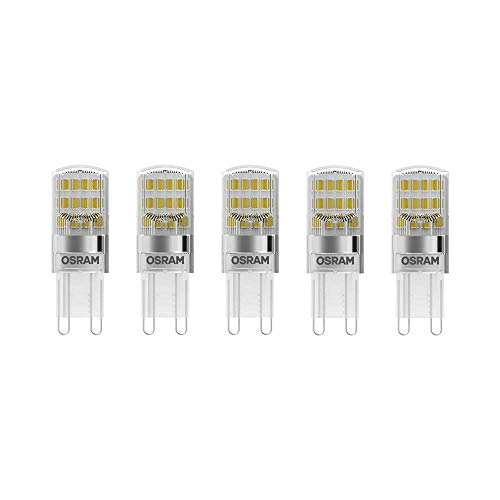 Osram LED Base Pin G9 / Lampe, G9, 2, 60 W, 30-W-Ersatz - für, klar, Warm White, 2700 K, 5 - er-Pack