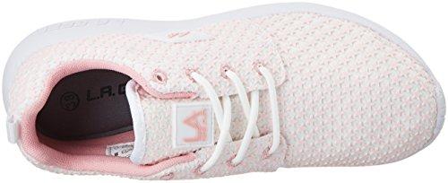 L.A. Gear Sunrise, Sneaker Donna Weiß (white/pink/stars)