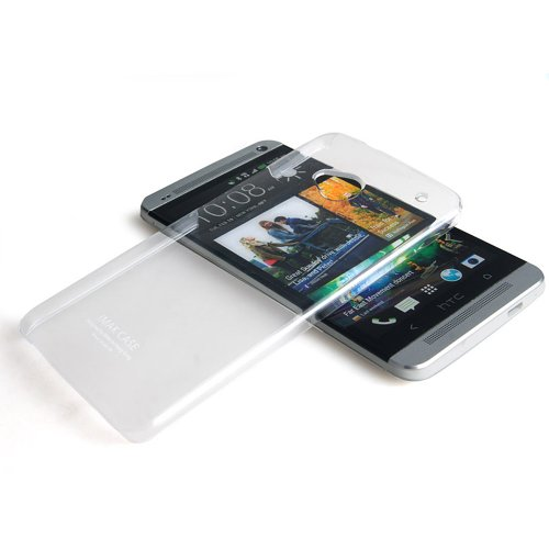 Heartly Imak Crystal Transparent Hard Back Bumper Case Cover For HTC One M7 801e