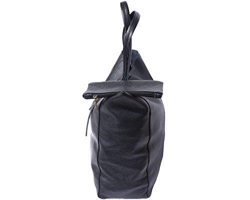 SHOPPING BAG CON LACCETTO IN PELLE 9121 Nero