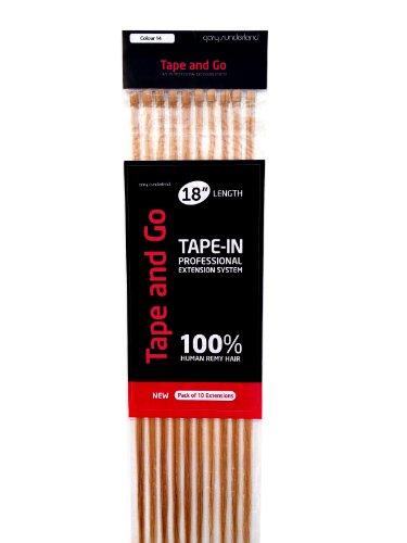 Gary Sunderland Tape and Go Haarverlängerung zum Ankleben, Remy-Haar, 100% menschliches Echthaar, Aschblond, 45,7cm -