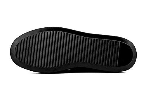 SHIXR Hommes Chaussures de planche à roulettes Chaussures Basse Tendance Chaussures Chaussures Style Européen De Ville Décontractée Chaussures Espadrilles black silver