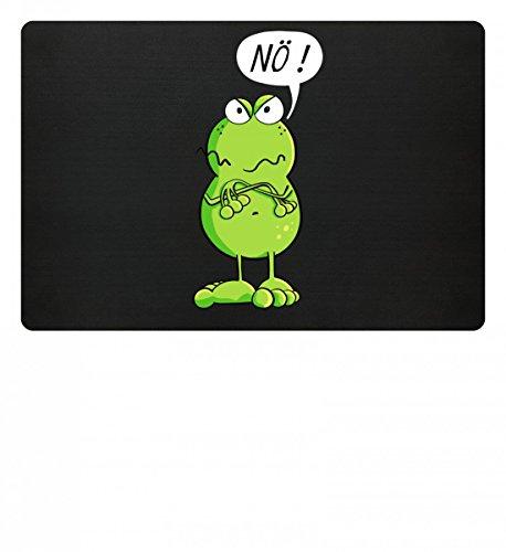 Cooles Nö Frosch Comic Design I Frösche Cartoon I Fun Art Damen Herren Jungen Mädchen - Fußmatte (T-shirt Frosch-design-schwarz)