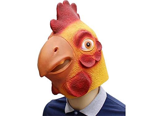 Kxrzu Divertente Maschera di Halloween Maschera ingannevole Testa di Animale Maschera di Copertura per Masquerade (Giallo)