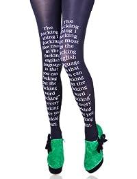 Hotlook Fucking Words Strumpfhose schwarz Schrift funny lustig witzig