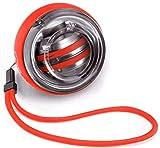 TUONAYJ Conveniente e Confortevole Hand Grip adduttori Resistenza del Polso Sfera 100 kg centrifuga Sfera Braccio da Inizio Muto Fitness apparecchiatura di Esercitazione Polso (Color : Red)