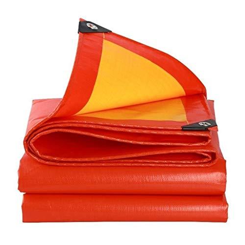 Soar-Tarps Abdeckhauben Plane PE 100% Wasserdicht, UV-beständig, Sonnenschutz, Mehrere Größen, Blau-Orange, 210G / M² (Size : 5X6m)