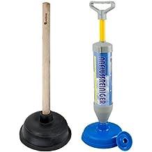 Set Reinigungspumpe und Saugglocke für Bad , Küche und WC . Pömpel , Pümpel Gummistampfer . Multifunktionale Pumpe und Gummi Stampfer für Haushalt