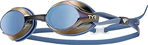 TYR Velocity Goggle Metallized Ice Blue