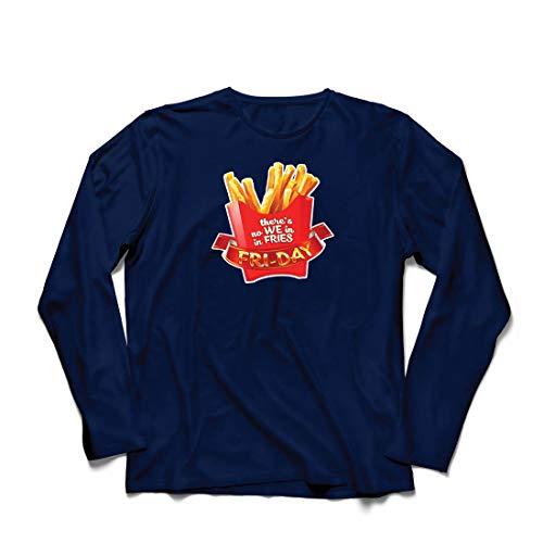 irts Es gibt Keine wir in Pommes Freitag Outfit Junk Food Liebhaber (X-Large Blau Mehrfarben) ()