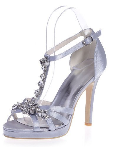 ShangYi Chaussures Femme - Mariage / Soirée & Evénement - Violet / Rouge / Ivoire / Blanc / Argent / Champagne - Talon Aiguille - Bout Ouvert - Red